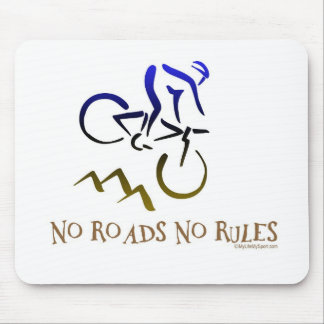 NO ROADS NO RULES MOUSE PAD