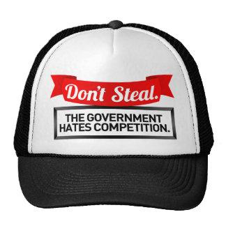 No robe. El gobierno odia la competencia Gorros