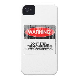No robe. La competencia de los odios del gobierno  Case-Mate iPhone 4 Protector