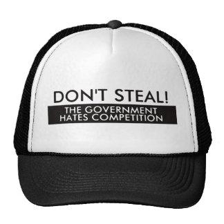 No robe la competencia de los odios del gobierno gorros bordados