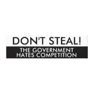 No robe la competencia de los odios del gobierno lienzo envuelto para galerias