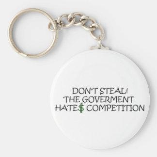 No robe- la competencia de los odios del gobierno llavero redondo tipo pin