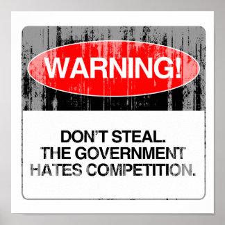 No robe La competencia de los odios del gobierno Impresiones