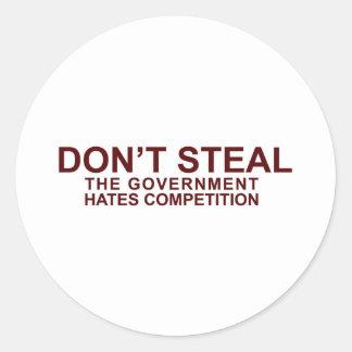 NO ROBE - la competencia de los odios del gobierno Etiquetas Redondas