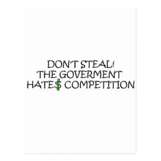 No robe- la competencia de los odios del gobierno postal
