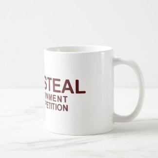 No robe la competencia de los odios del gobierno taza de café