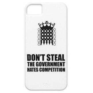 No robe las competencias de los odios del gobierno iPhone 5 fundas