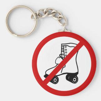 no-roller-skates keychain