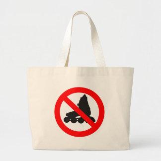 NO ROLLER SKATING ROAD SIGN BAGS