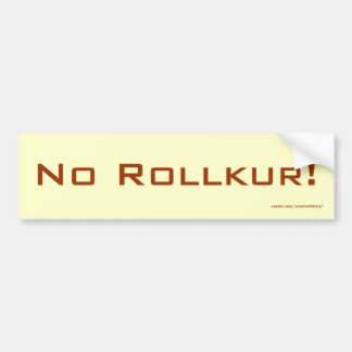 No Rollkur! Bumper Sticker