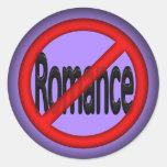 No Romance Round Sticker