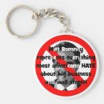 No Romney big business Keychain
