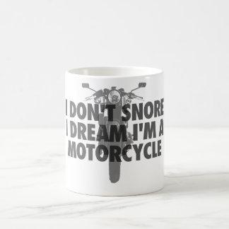 No ronco sueño de I que soy una motocicleta Taza De Café