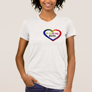 no room for hate love peace harmony shirt