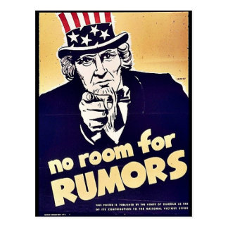 No Room For Rumors Postcard