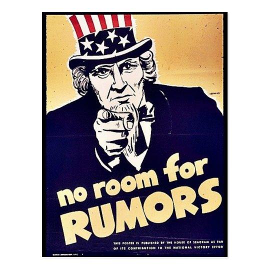 No Room For Rumors Postcard
