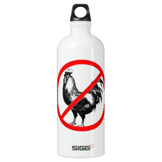 No Rooster?! Aluminum Water Bottle