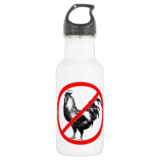 No Rooster?! Stainless Steel Water Bottle
