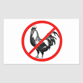 No Rooster?! Rectangular Stickers