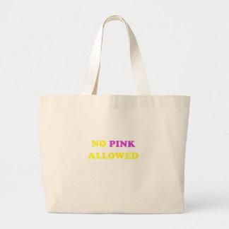 No rosa permitido bolsas de mano