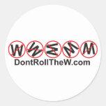 No ruede al pegatina de W