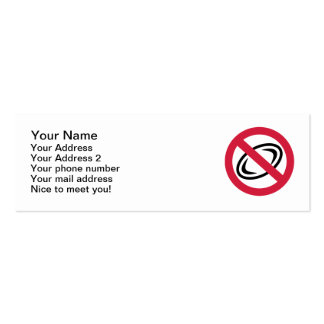 No rugby Double-Sided mini business cards (Pack of 20)
