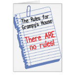 No Rules at Grampy's House Card