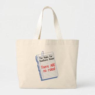 No Rules at MomMom's House Jumbo Tote Bag