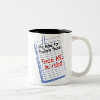No Rules at PapPap's House Two-Tone Coffee Mug