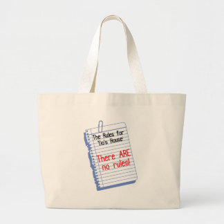 No Rules at Tio's House Canvas Bag
