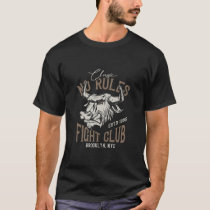 No Rules Fight Club Vintage Style Bull T-Shirt