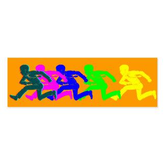No Running Bookmark Business Card Template