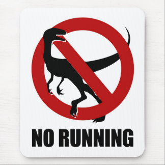 NO RUNNING Raptor Mouse Pad