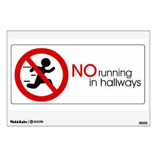 No Running Sign Wall Sticker