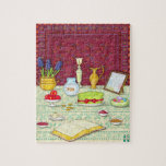 "No Ruz Haft Sin Puzzle<br><div class=""desc"">Celebrate the coming of Spring and a New Year with this charming No Ruz puzzle featuring an illustration of the Haft Sin Table. Great as a gift,  or for family fun at a No Ruz party.</div>"