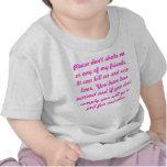 No sacuda a un bebé camiseta