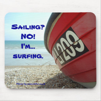 No sailing surfing mousepad