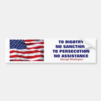 No Sanction/Assistance Car Bumper Sticker