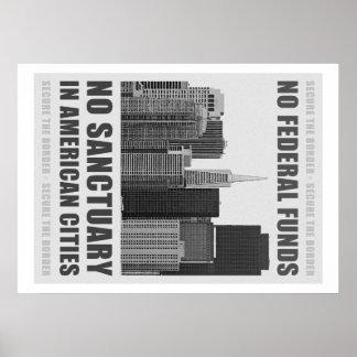 No Sanctuary Cities Poster