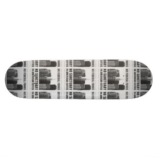 No Sanctuary Cities Skateboard