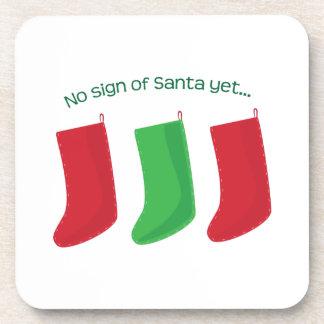 No Santa Yet Drink Coaster