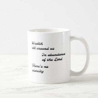 No Scarcity Haiku Mug