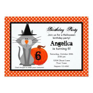 """No Scaredy Cats Birthday Party Invitation 5"""" X 7"""" Invitation Card"""