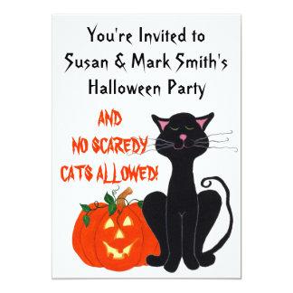 No Scaredy Cats Hallowee - Customizable Invitation