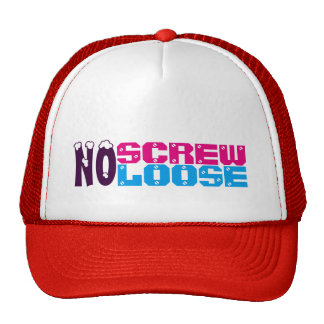 No Screw Loose Customized white and Red Female Hat