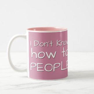 No sé a la gente taza de dos tonos