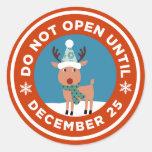 No se abra hasta el pegatina del navidad (el COLOR