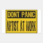No se atierra el artista de la muestra en el traba etiquetas