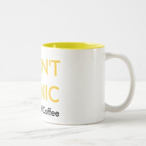NO SE ATIERRE, apenas añada el café Taza Dos Tonos