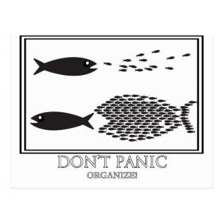 ¡' No se atierre sea organizan! Postal